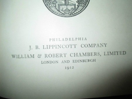 Value of 1912 Chamber's Encyclopedias - publish date page