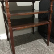 Value of a Mersman End Table #7291 - view from side