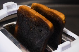 Toaster With Burnt Toast