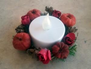 Autumn Tea Light Candle Wreath
