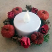 Autumn Tea Light Candle Wreath