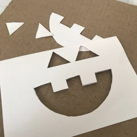 Pumpkin Decor - draw face on index card and cut out
