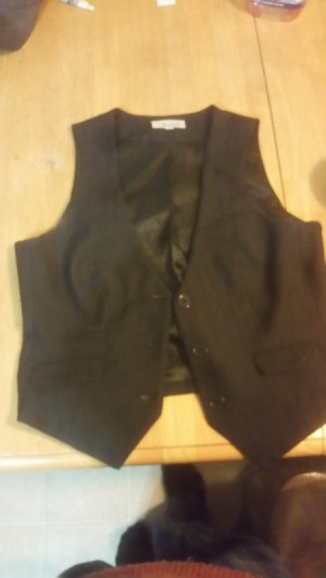 Bleaching a Polyester Vest Before Dyeing - vest