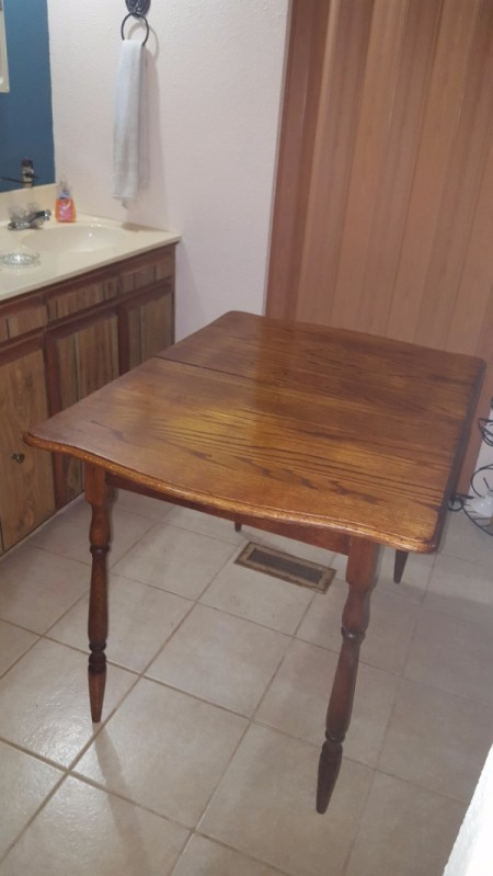 Determining the Value of an Antique Table - restored table