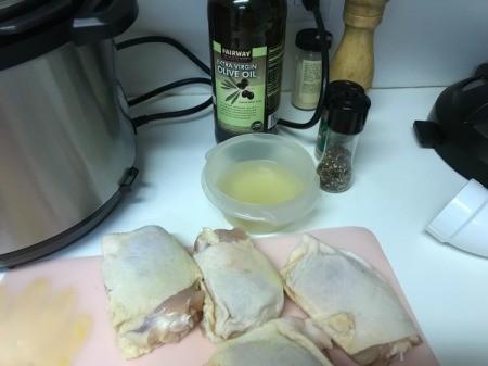Pressure Cooker Chicken Thighsingredients
