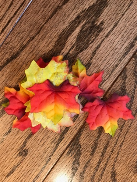 Instant Autumn Decor Wreath - faux leaves