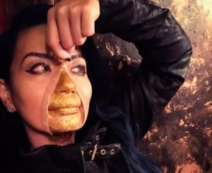 Golden Girl Beneath My Skin Costume - final view of makeup