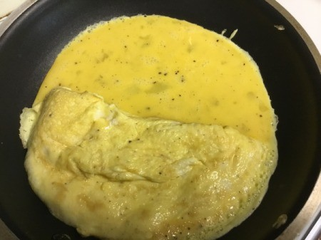 meet cooking in pan