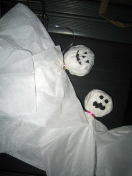 Tissue Paper Ghosts Decor