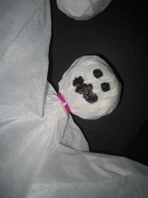 Tissue Paper Ghosts Decor
