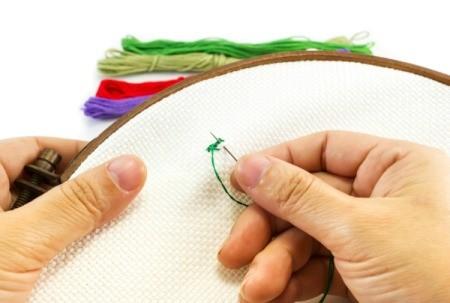 Woman Beginning Cross Stitch Pattern