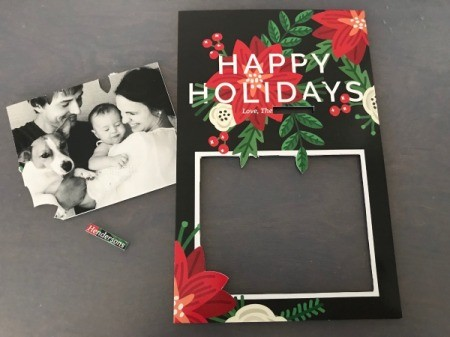 Repurpose Free Sample Holiday Cards - remove family photo and name