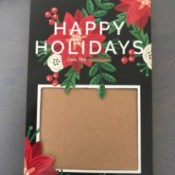 Repurpose Free Sample Holiday Cards - repurposed card ready for your family photo, etc.