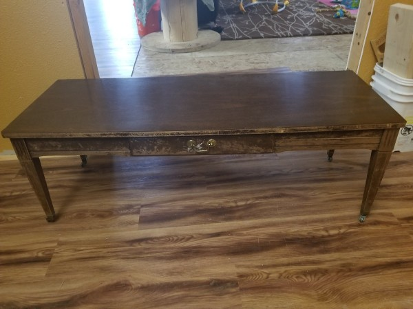 Wonderful Value Of A Mersman Coffee Table   Brown Coffee Table With One Drawer