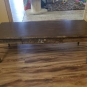 Value of a Mersman Coffee Table - brown coffee table with one drawer