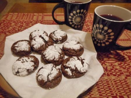 Grandma's Chocolate Crinkles on plate