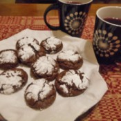 Grandma's Chocolate Crinkles on plate
