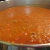 simmering chili