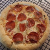 Homemade Pizza on cooling rack
