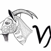 Capricorn Adult Coloring Page
