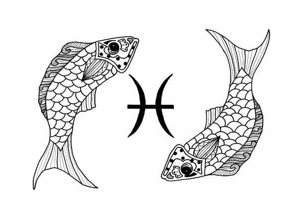 Pisces Adult Coloring Page ThriftyFun