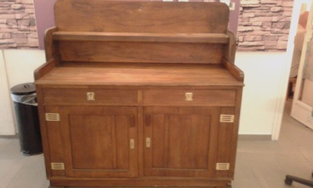 Value of an Antique Sideboard - sideboard with shelf, two drawers, and two  doors - Finding The Value For Your Antique Furniture ThriftyFun