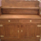 Value of an Antique Sideboard - sideboard with shelf, two drawers, and two doors