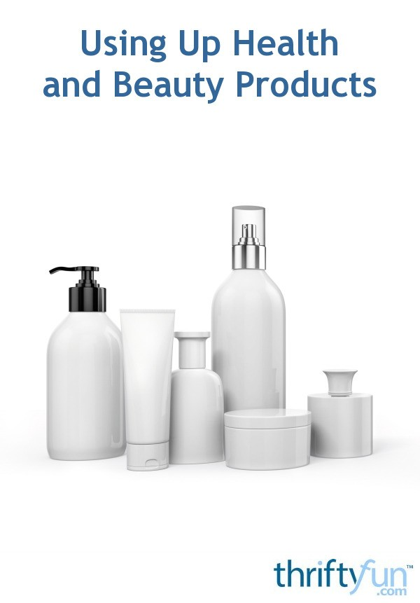 Body Shampoo: Using Up Health And Beauty Products