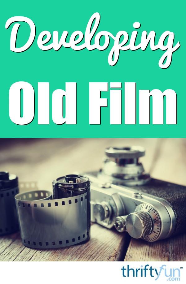 Developing old rolls of film