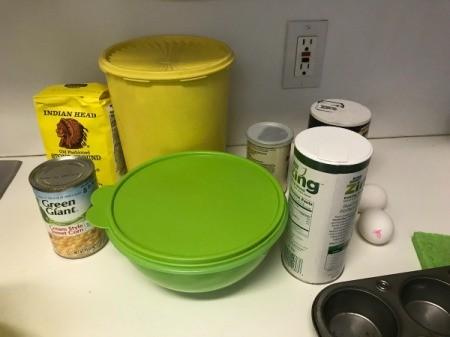 Corn Muffins ingredients