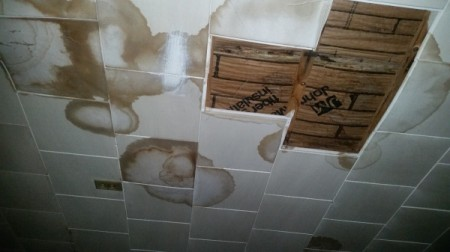 Roof Repair Assistance for Low Income Veteran - ceiling damage