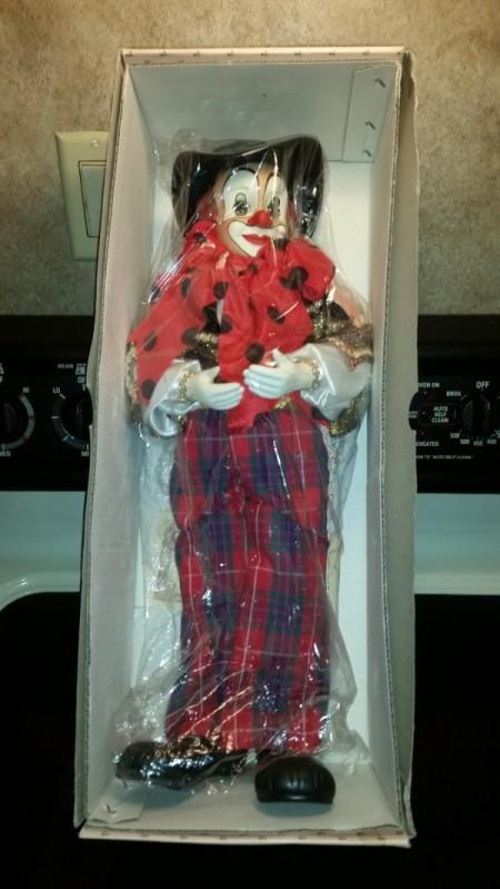 Determining the Value of Porcelain Dolls - clown doll