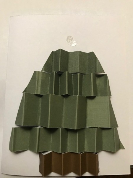 Christmas Tree Holiday Card - use tape or glue dots