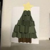 Christmas Tree Holiday Card - tree with star