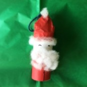 Cardboard Tube Santa Claus Ornament - finished Santa ornament