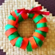 Cardboard Tube Christmas Ring Wreath - finished wreath