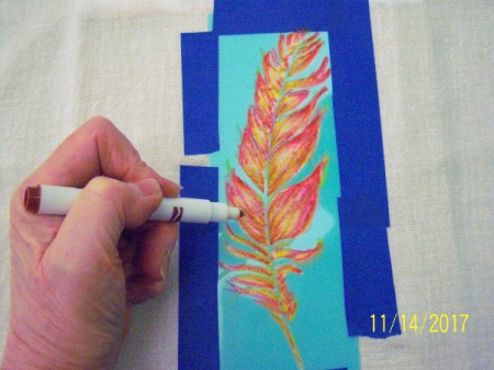 Stenciled Tea Towels or Bags - add complementary colors