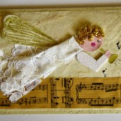 Angel Blowing On Trumpet Christmas Card
