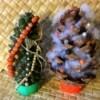 Christmas Pinecones - decorated pinecones