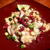 Moroccan Chicken and Bean Salad on plate