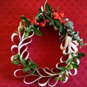 Upcycled Calendar Christmas Wreath - finished wreath