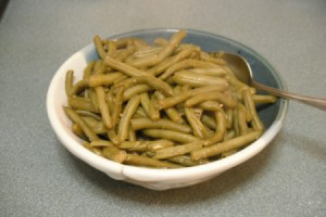 Flavored Greens Beans in bowl