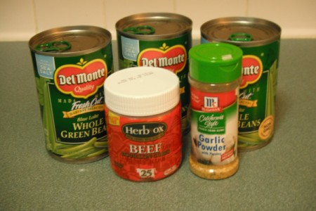 Flavored Greens Beans ingredients