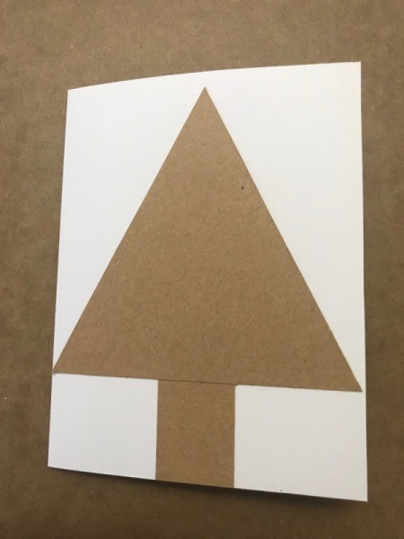 Christmas Tree Card - glue tree to card