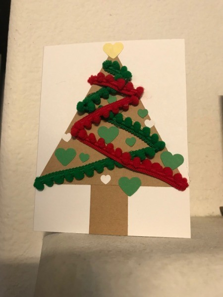 Christmas Tree Card - front of finished card