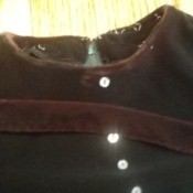 Solution for a Discoloration on Vintage Velvet Dress