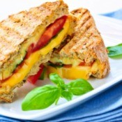 Grilled Tomato Basil Cheese Sandwich