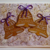 Trio of Bells Christmas Card - finished card