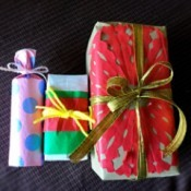 Thrifty Holiday Gift Wrapping - wrapped gifts