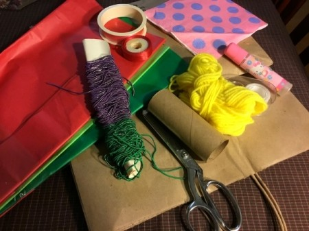 Thrifty Holiday Gift Wrapping - supplies